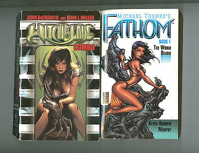 Witchblade / Michael Turner's Fathom (2 Pb Book Lot)  Book 1; The World Below