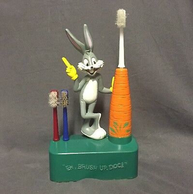 Bugs Bunny Electric Tooth Brush Warner Bros Power Up Doc Dentist Office Parts