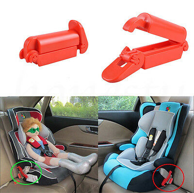 1~7PCS Baby Car Seat Safety Belt Buckle Child Toddler Strap Fixed Locking Clip