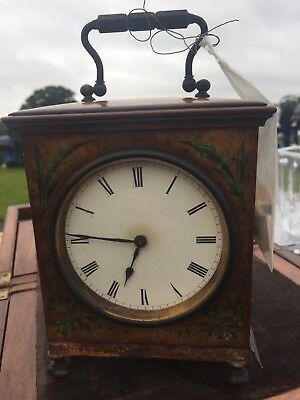 19th Century Victorian Walnut Carriage Clock