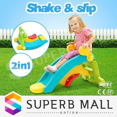 Indoor & Outdoor Baby Shake and Slide Toddler Step Up Rocking Toy Play Set 2in1