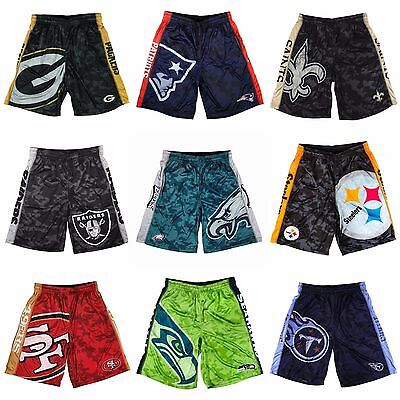 NFL Football Men's Big Logo Polyester Shorts by KLEW - Pick Your Team!