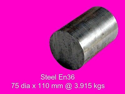 Case Hardening Steel En36A---75 dia x 110 mm-Lengths-Lathe-Mill-Steam-OG