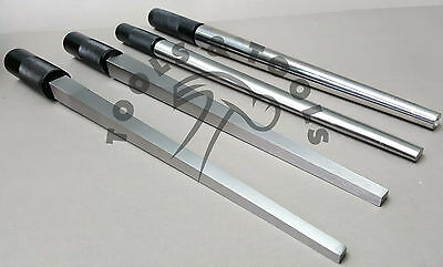 Set of 4 Ring Mandrels Round Oval Square Rectangle Solid Steel Shaping Forming