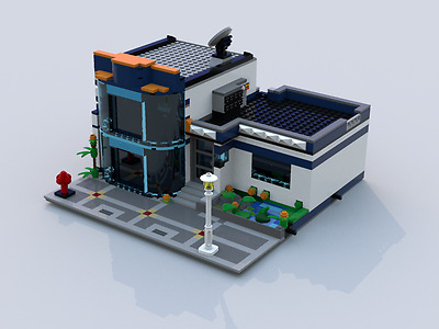 LEGO custom modular building instruction : Tech and Natural City Office
