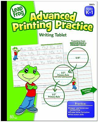 LeapFrog Advanced Printing Practice Writing Tablet with Ruled Guidelines for 80