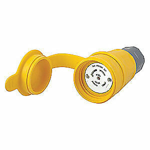 Thermoplastic Elastomer, Valox Connector,L21-30R,30A,120/208VAC,Yellow, HBL29W81