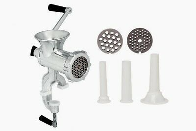 Kitchen No. 8 Aluminium Manual Meat Grinder Mincer Sauce Maker Sausage Filler