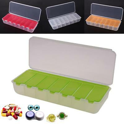 Large Travel Pill Cases Portable 7-Day Medicine Box Tablet Container