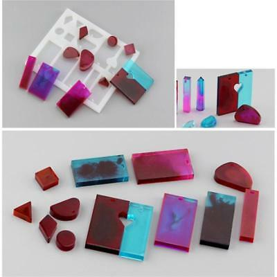 5 Pcs/sets Silicone Mould DIY Resin Casting Jewelry Pendant Mold Handmake Crafts