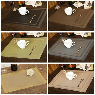 PVC Insulation Waterproof Placemats Cups Mats Coasters Kitchen/Dining 6 Colors