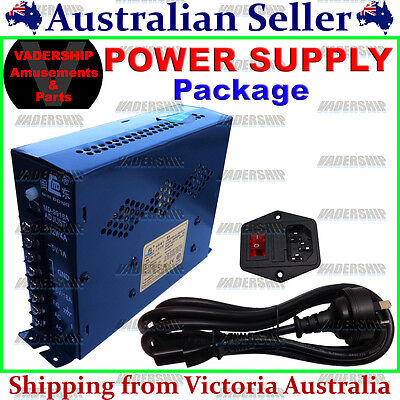 New: Power Supply, Switch & Cable Package - Arcade / Mame / Vending machines