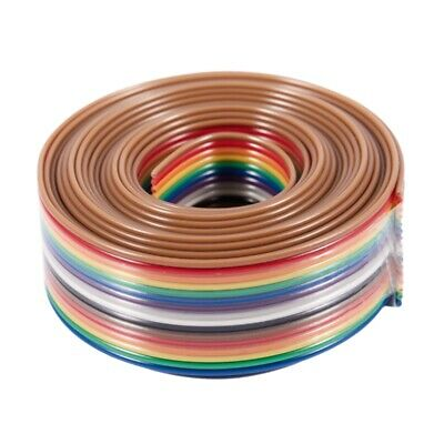 2M 1.27mm Pitch 16 Pin Flat IDC Ribbon Extension Cable Wire C3E1