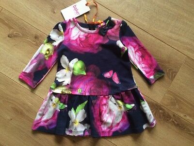SALE New Ted Baker Girls Floral Waist Tunic Dress Size 3-6 Months RRP£20