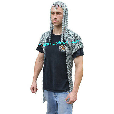 Armor Functional Stronghold Chainmail Long Shirt with Hood