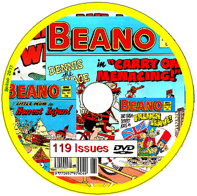 Beano Comic Library 119 Comics 1992-1997 on DVD                               B5