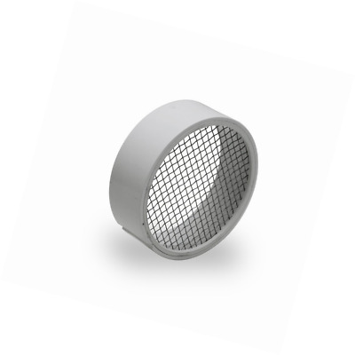 Raven R1509 PVC Termination Vent with 304 Stainless Steel Screen, 3 Inch, Slotte