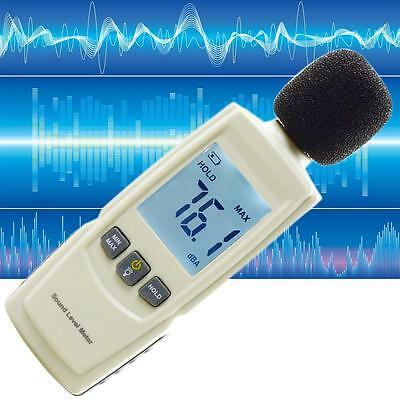 Digital Sound Level Meter Noise Volume Decibel Monitoring Tester 30-130dB X2