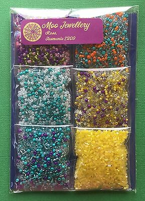 Bulk 120g Glass Seed Bead Pack Mix Colour Jewellery Kit Craft - Aussie Seller!!!