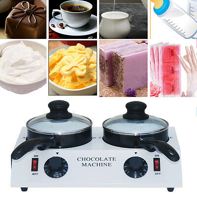 Electric Chocolate Double Melting Pot Melting Machine Melter Tempering Warmer