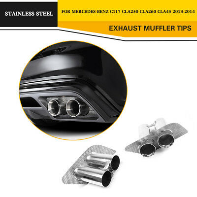 Stainless Steel Exhaust Tip Muffler Pipe for Mercedes Benz C117 CLA-Class 13-14