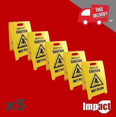 WET FLOOR SIGN pack of 5 corrugated plastic signs CLEANING IN PROGRESS a frame