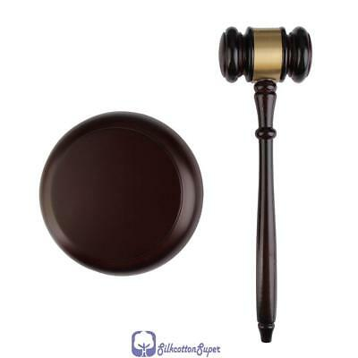 Wooden Gavel Sound Block Handcrafted  Lawyer Judge Meeting Auction Gift Sale UK