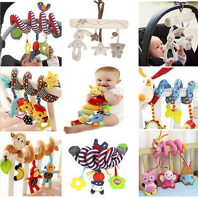 Toddler Baby Crib Cot Pram Hanging Spiral Musical Rattle Toy Soft Education Toy