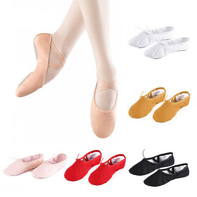 Girls Adult Child Canvas Ballet Dance Shoes Slippers Pointe Gymnastics Lot Sizes