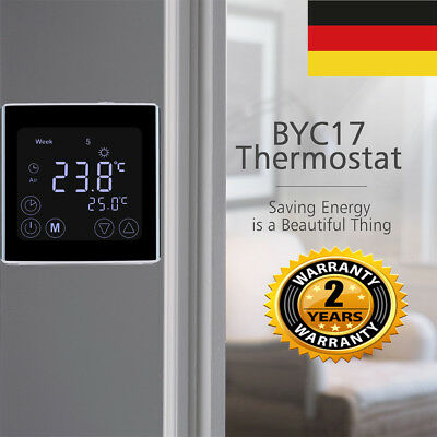 10x digital lcd heizung thermostat fu bodenheizung. Black Bedroom Furniture Sets. Home Design Ideas