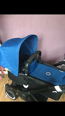 Bugaboo Buffalo Fabric Set In Royal Blue With Extendable Hood