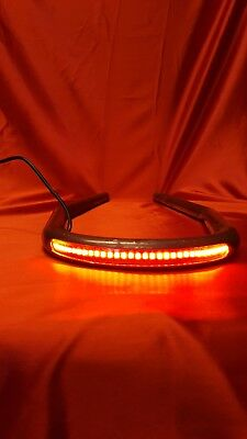 Cafe Racer Steel Seat Hoop With Led Stop/tail Lights And Indicators