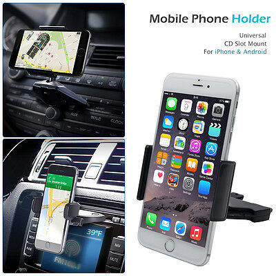 CD Slot Support Voiture Grille Aération Téléphone 360° Pr Smart Phone GPS iphone