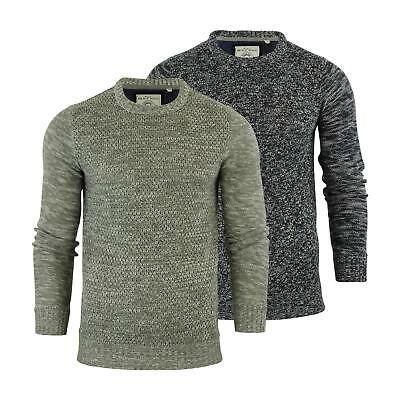 Mens Jumper Brave Soul 'Romulan' Twist Knitted Crew Neck Sweater Top S-XL