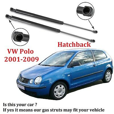 2 * For Volkswagen Polo Hatchback 9N 01-09 Tailgate Rear Boot Struts Gas Lifters