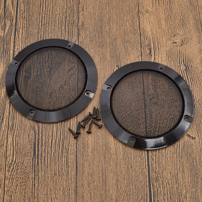2 Pcs 2 inch Black Audio Speaker Circle Covers with Metal Mesh Grille Gadget