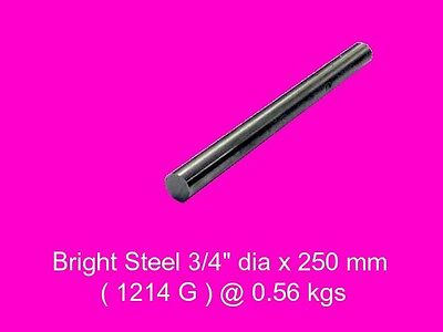 "Bright Steel 3/4"" dia x 250 mm ( 1214FM )-Lengths-Lathe-Mill-Steam"