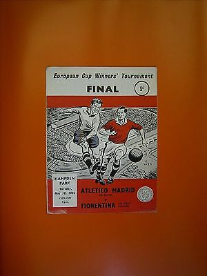 European Cup Final - Atletico Madrid v Fiorentina - 10th May 1962