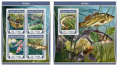 Z08 ST17312ab Sao Tome and Principe 2017 Fishes MNH ** Postfrisch Set