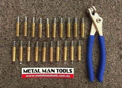 """CLECOS, SET 20 X 1/8"""" and PLIERS, SKIN PINS, PANEL BEATING, HOTROD, CUSTOM"""