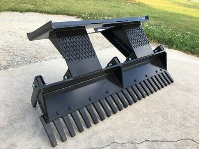 "48"" Eliminator Scarifier Rake Landscaping Mini Skid Steer Attachment"