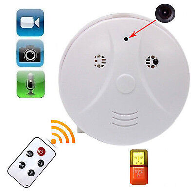 Mini SPY Hidden Camera Smoke Detector Motion Detection Video Recorder Cam HD DVR