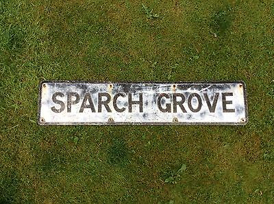 Vintage Road / Street Name Sign SPARCH GROVE rare Barn Find
