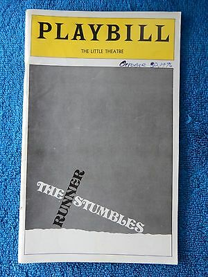 The Runner Stumbles - Little Theatre Playbill - October 1976 - Stephen Joyce