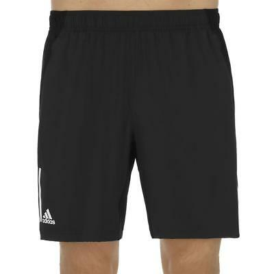 Adidas Boys Club Tennis Training Running Shorts - Black White Navy *5-14 Years*