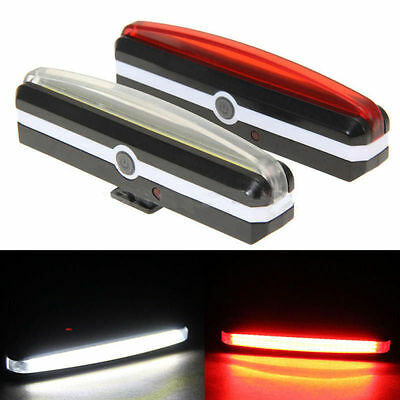2X USB Rechargeable LED Bicycle Bike Cycling Front Rear Tail Light 6 Mode Lamp P