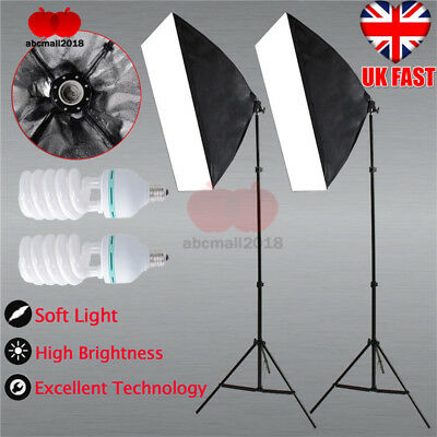 1350W Photography Studio Soft Box Continuous Lighting Softbox Light Stand Kit UK