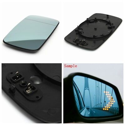 Right Driver Side clip on Heated Door Wing Mirror Glass For BMW 3 Serie E46