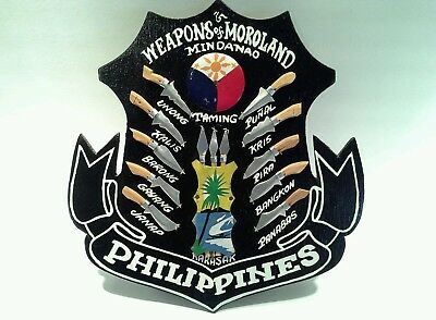 3D Plaque Showing the Weapons of Moroland, Mindanao, Phillipines
