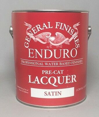 General Finishes Pre-Cat Water Based Lacquer Finish - SATIN! 1 Gallon